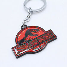 New Jurassic World Jurassic Park Logo Metal Keychain Keyring Red Color