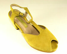 Andrea Conti  Peep Toe Pumps Yellow  Echtleder innen ausßen  Gr.39 OVP 368