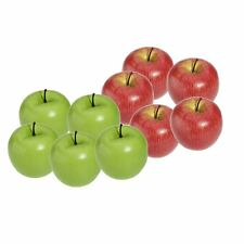 Artificial Apple Plastic Fruits Imitation Home Decor 10pcs Red and Green T8