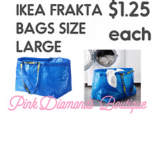 IKEA LARGE BLUE BAG FRAKTA Shopping Groceries Laundry Storage Tote Bags Strong