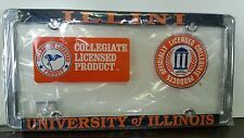 1 Officially Licensed Illinois Fighting Illini Metal License Plate Frame Chrome