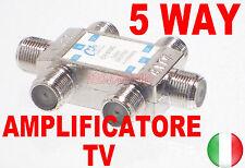 SPLITTER AMPLIFICATORE SDOPPIATORE SEGNALE TV ANTENNA DIGITALE TERRESTRE 5 VIE