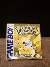 POKEMON YELLOW - COMPLETE IN BOX MANUAL - Nintendo Gameboy EXCELLENT CONDITION
