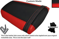 RED & BLACK CUSTOM FITS HONDA CBR 600 RR 07-12 REAR LEATHER SEAT COVER ONLY
