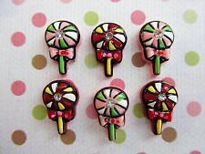 20 Pink & Red Lollipop Rhinestone Resin Button/Christmas/candy/Craft/Bow B46