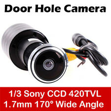 Mini Wired Door Eye Hole Peephole Color 170 Degree Wide Angle CCTV Video Camera