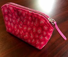 New Stubbs & Wootton Palm Beach Pink Spots POCKET Cosmetic Bag Clutch MSRP $75