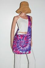 TIE DYE Shoulder Bag Pink/Purple Spiral Boho Festival Bag Grateful Dead tye die