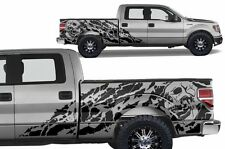 Custom Vinyl Decal Nightmare Wrap Kit for Ford F-150 09-14 LONG BED Matte Black