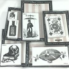 LaBlanche Foam Rubber Steampunk Stamp Lot Air Balloon Card Skull Book Man Scale