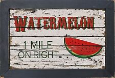 Vintage Style Country Diner Kitchen Primitive Home Decor Watermelon Wall Art
