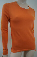 LORO PIANA Made In Italy Orange Long Sleeve Branded Jumper Sweater Top IT38 UK6