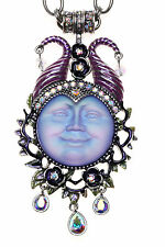KIRKS FOLLY GRANDE MALEFICENT SEAVIEW MOON MAGNETIC ENHANCER NECKLACE silvertone