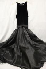 "JS COLLECTIONS,Evening Collections,Black ""Velour Feel"" STUNNING Gown,Size 14-B17"