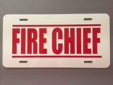FIRE CHIEF LICENSE PLATE TRUCK VOLUNTEER DEPARTMENT P71