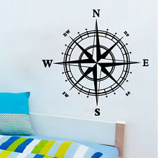 Compass Vinyl Decal Sticker Car Boat Window Wall Nautical Sailing Anchor Ship