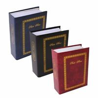 """Traditional Slip In Photo Album Holds 100 Pocket 6 x 4"""" Pictures Hard Back"""