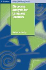 Discourse Analysis for Language Teachers (Cambridge Language Teaching Library),
