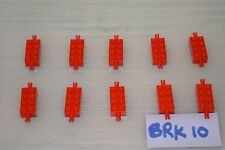Lego 10 Pieces RED BRICK MODIFIED 2x4 with PINS. ACTUAL PICTURE (BRK 10)