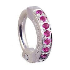 TummyToys  14K White Gold Ruby Sleeper Belly Ring