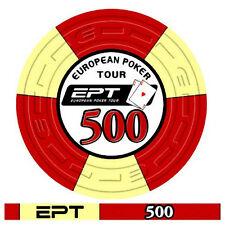 Blister da 25 fiches poker EPT Replica 2007 Ceramica Valore 500 Bordo Allineato
