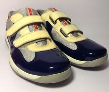 MEN'S GRAY/BLUE /RED PRADA SNEAKER  SHOES 0723 Sz 7
