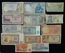 Collection of 14 World Banknotes - Interesting Lot - Various Conditions