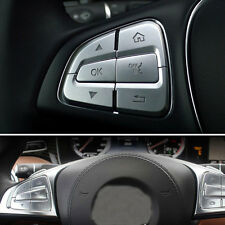 Steering Wheel Button Sticker Cover Trim For Benz A B C Class GLC CLA CLS GLE
