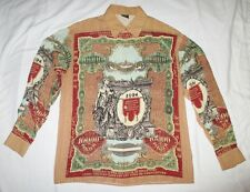 Jean Paul Gaultier Spring 1994 men's buttondown box shirt statue ruble tattoo