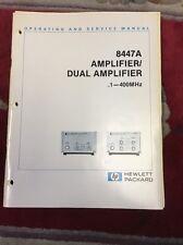 8447A Amplifier/ Dual Amplifier .1-400 MHz Hewlett Packard Manual