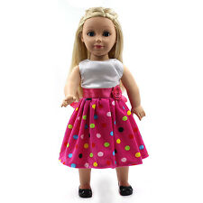 "Fits 18"" American Girl Madame Alexander Handmade Doll Clothes dress MG152"