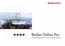 Prospetto Becker in linea Pro 9 2001 opuscolo brochure AUTORADIO CAR HIFI CD navi
