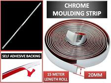 New 20mm(2cm)x 15M Car Exterior Styling Chrome Moulding Trim strip Self Adhesive