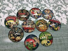 10 x 25mm Horror Comic Image Cabochons jewellery,charms scrapbook Halloween