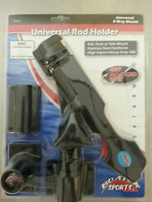 """Rail Deck or Side Mount Clamp On ABS Fishing Rod Pole Holder  7/8"""" to 1"""" Tube"""