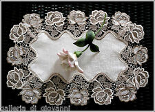 "Roses Jubilee  20""  Placemat or Runner Lace Doily Doilies"