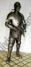 Antique Medieval Suit of Armor 17th Century Combat Full Body Armour With Sword