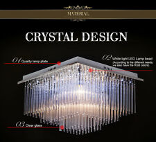 77381310 Dinning Bed Room Ceiling Light Crystal Stainless Steel Remote Control