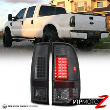 [TITANIUM SMOKE] Ford 2008-2016 F250 F350 SuperDuty SD LED Tail Lights Lamps L+R