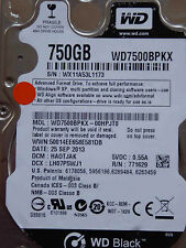 Western Digital WD7500BPKX-00HPJT0 / HA0TJAK / 25 SEP 2013 - 750 GB hard disk