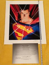 Alex Ross Mythology Superman Giclee signed,Batman,Wonder Woman,Flash, DC Rebirth