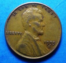 f/vf *1955-S*  Lincoln Cent   nice coin   'FREE SHIPPING'