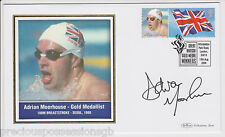 GREAT BRITISH GOLD MEDAL WINNERS SIGNED  FDC COVER ADRIAN MOORHOUSE 2004