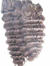 "Cambodian Deep Wave Virgin Human Hair Extensions /14"",16"",18""/ 3 Bundles"