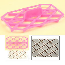 Diamond Rhombus Quilting Cookies Embosser Cutter Cake Decorating Fondant Mold #F