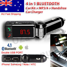 4 in 1 Bluetooth Car Kit FM Transmitter Car Charger MP3 Player USB for iPhone 7
