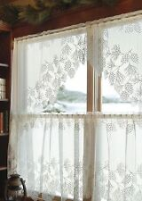 Heritage Lace WOODLAND Swag Pair 68x40 Ecru Made in USA
