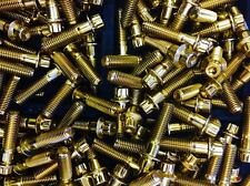 (40 Pcs) 8mm Gold Chrome Plated Bolts & Nuts For 2 And 3 Pc Wheel