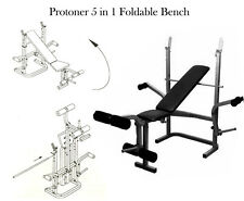 Protoner 5 In 1 Multy Purpose Foldable Weight Lifting Bench For Home Gym
