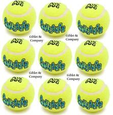 9 MEDIUM Air KONG SQUEAKER TENNIS BALLS - Bouncy Squeaky Bulk Dog Toys